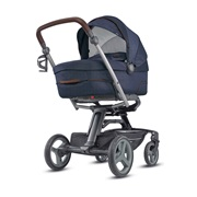 ΚΑΡΟΤΣΙ QUAD SYSTEM QUATTRO OXFORD BLUE-ΒΑΣΗ QUAD BLACK COFFEE INGLESINA Προϊόντα