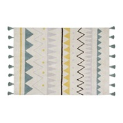 LORENA CANALS. ΧΑΛΙ ΔΩΜΑΤΙΟΥ AZTECA NATURAL VINTAGE BLUE. 120X16 LORENA CANALS Χαλάκια Βρεφικού Δωματίου
